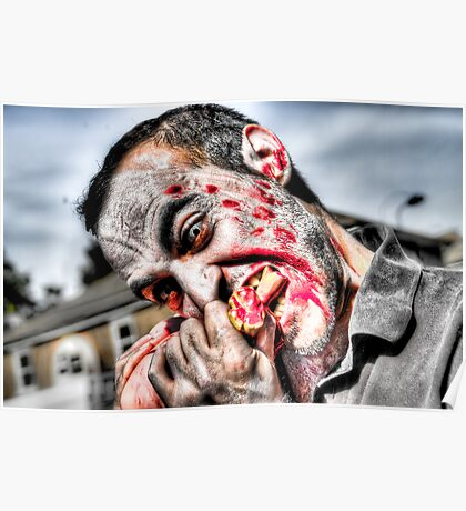 Zombie Eating Foot Poster