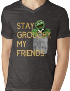 Stay Grouchy Mens V-Neck T-Shirt