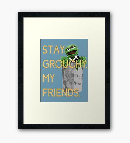 Stay Grouchy Framed Print