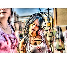 Hot Female Zombie Photographic Print