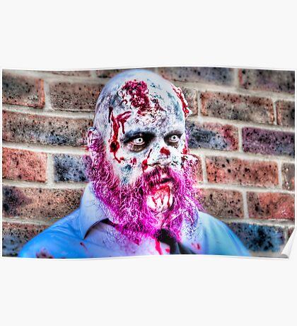 Purple Bearded Zombie Poster