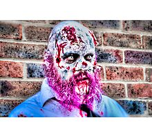 Purple Bearded Zombie Photographic Print
