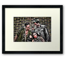 Three Zombies Framed Print