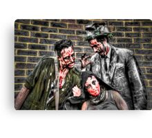 Three Zombies Canvas Print