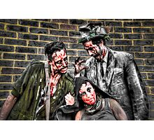 Three Zombies Photographic Print