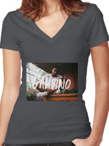 Childish Gambino Type Women's Fitted V-Neck T-Shirt