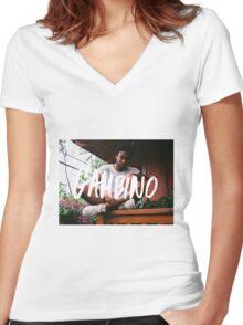 Childish Gambino Type Women's Fitted V-Neck T-Shirt