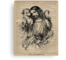 Jesus and the Lamb Proverbs 3 Canvas Print