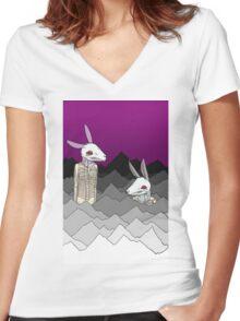 Easter Women's Fitted V-Neck T-Shirt