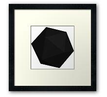 Black D20 Framed Print