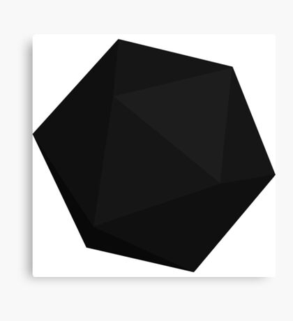 Black D20 Canvas Print