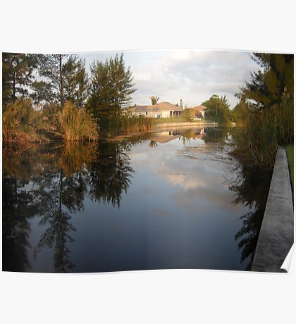 Morning Canal View Cape Coral  Poster