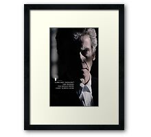 Twelve Doctor Who (3) {CASES, PILLOWS,ETC} Framed Print
