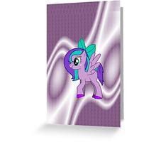 Custom Made Purple Pony Greeting Card