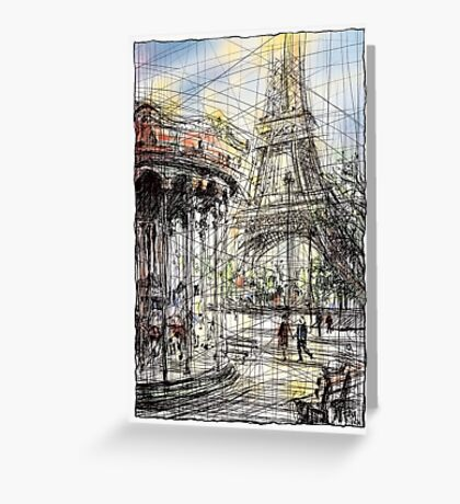 Paris 9 in colour Greeting Card