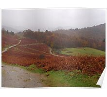 Lake District, autumn walk in the mist Poster