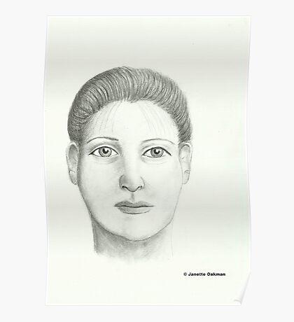 Woman - Pencil Portrait Poster