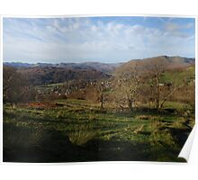 Lake District, beauty of a late afternoon autumn sun. Poster
