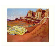 Wingate Cliffs Art Print