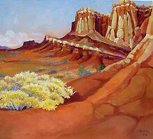 Wingate Cliffs by jdbuckleyart