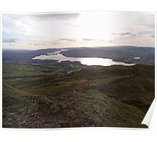 Lake District, autumn view of Lake Windermere Poster