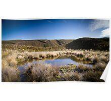 Tongariro Crossing - Lake Poster