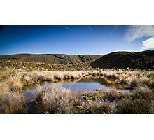Tongariro Crossing - Lake Photographic Print