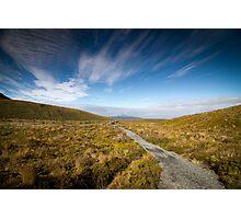 Tongariro Crossing - Path Photographic Print