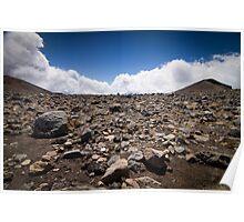 Tongariro Crossing - Rocks Poster