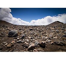 Tongariro Crossing - Rocks Photographic Print