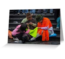 Shawl Vendors, Quito Greeting Card