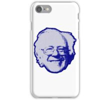 Bernie Sanders Head (blue) iPhone Case/Skin