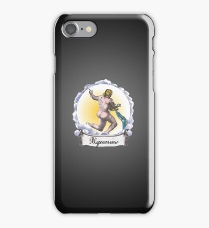 Aquarius Zodiac Astrology iPhone, iPod Case Fade to Black, Super Lush iPhone Case/Skin