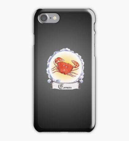 Cancer Zodiac Astrology iPhone, iPod Case Fade to Black, Super Lush iPhone Case/Skin