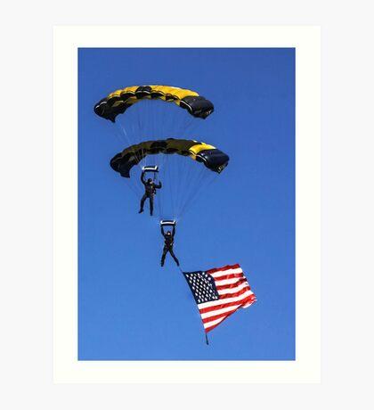 Naval Aviation Parachutists  Art Print