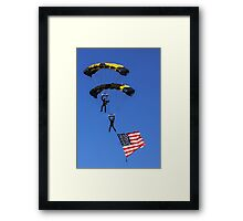 Naval Aviation Parachutists  Framed Print