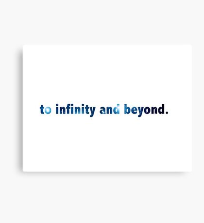 To Infinty And Beyond - Buzz Lightyear Canvas Print