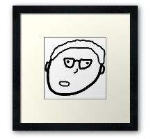 Kettle Kids higgle Face Framed Print