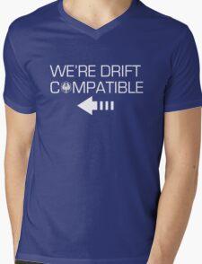We're Drift Compatible Mens V-Neck T-Shirt