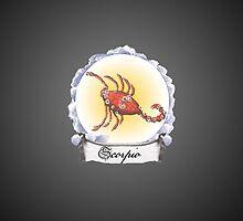 Scorpio Zodiac Astrology iPhone, iPod Case Fade to Black, Super Lush by velvetlapin