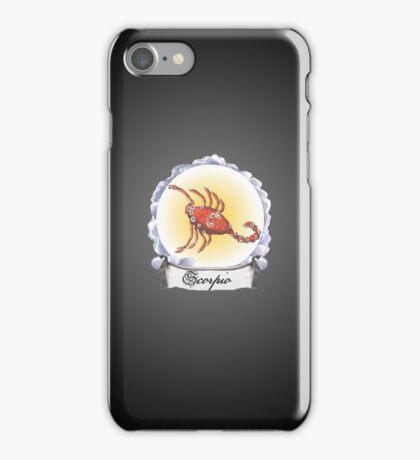 Scorpio Zodiac Astrology iPhone, iPod Case Fade to Black, Super Lush iPhone Case/Skin
