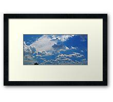 ©HCS Cumulus Humilis In Blue X Framed Print