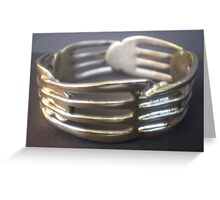World's Best Spoon and Fork Jewellery 3 Greeting Card