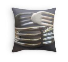 World's Best Spoon and Fork Jewellery 3 Throw Pillow
