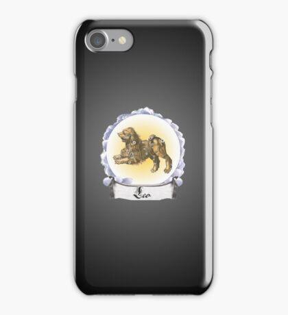 Leo Zodiac Astrology iPhone, iPod Case Fade to Black, Super Lush iPhone Case/Skin