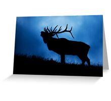 Bull Elk Bugling During the Rut Greeting Card