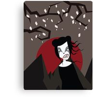 UNDER THE RED MOON Canvas Print