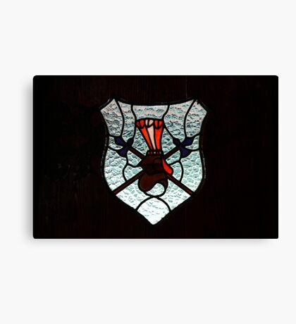 Window Coat of Arms Canvas Print
