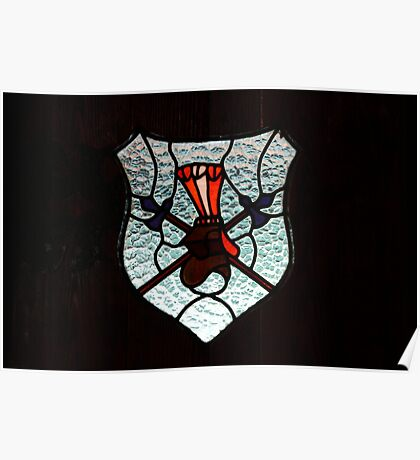 Window Coat of Arms Poster