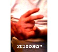 Scissors! Photographic Print